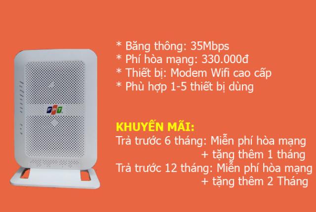 Gói mạng FPT 35Mb cá nhân, gia đình Nhỏ
